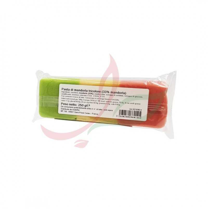 Tricolor almond paste 250g