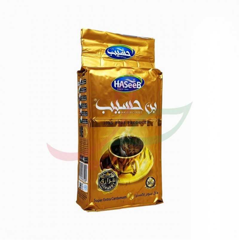 Ground coffee with cardamom (golden) Haseeb 500g