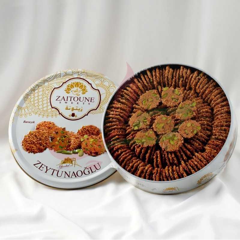 Barazek (biscuit fin au sésame & éclat de pistache) Zaitouna 500g