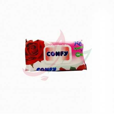Rose scented wipe Confy x100
