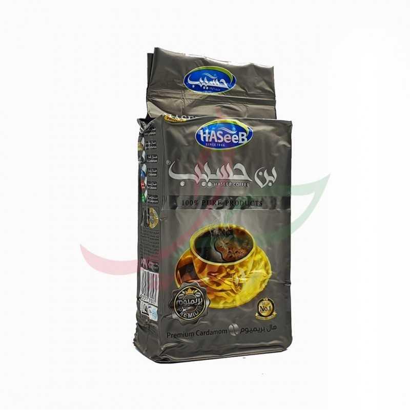 Café moulu à la cardamome (silver) Haseeb 500g