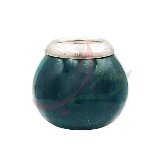 Calebasse (pot à maté ) traditionnelle avec anneau - vert
