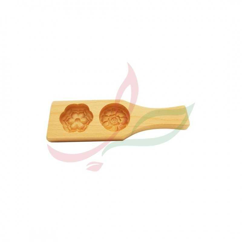 Moule pour maamoul (double) en bois