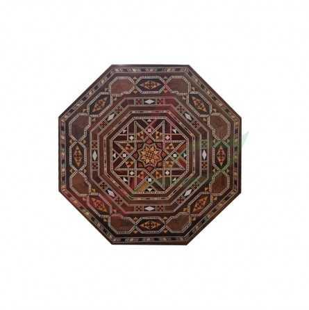 صندوق مثمن فاخر موزاييك دمشقي - كبير
