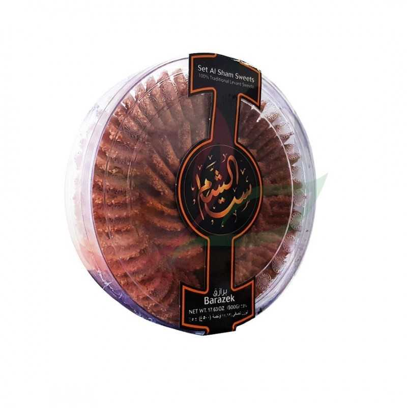 Barazek (fine biscuit with sesame&pistachio) Set Al Sham 500g