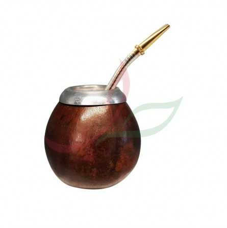 Calabash traditional (brown) with eyelet + bombilla