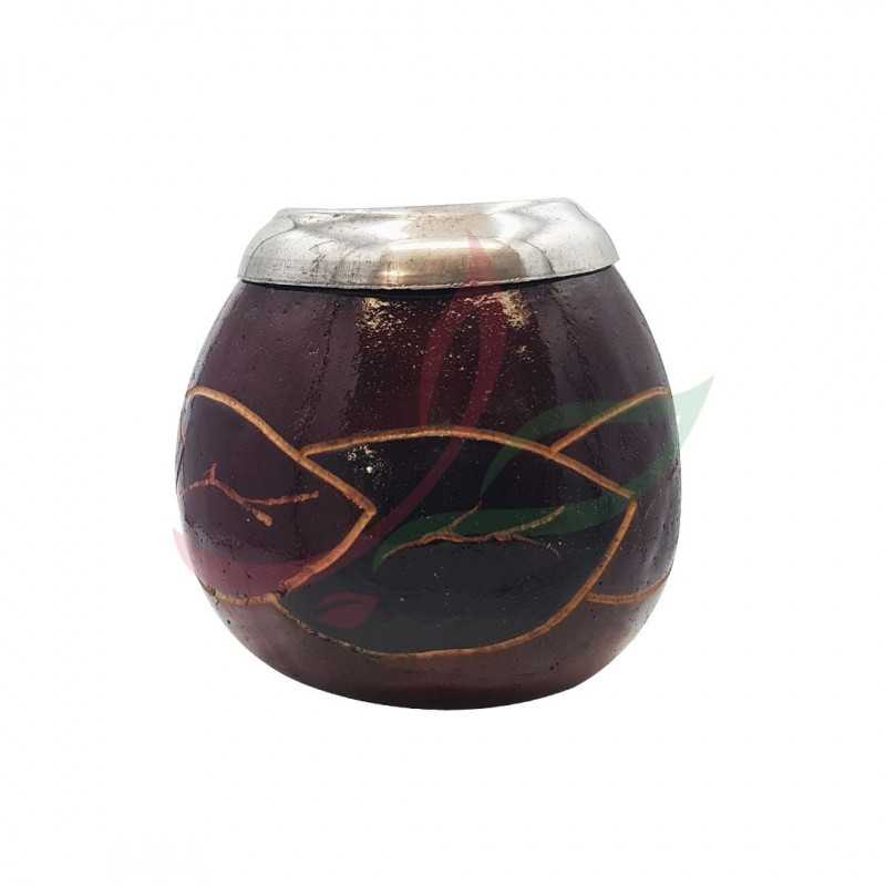 Calabash (Calabash (mate pot) traditional decorated with eyelet - brown