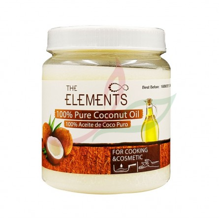 Huile de coco pure The Elements 500 ml