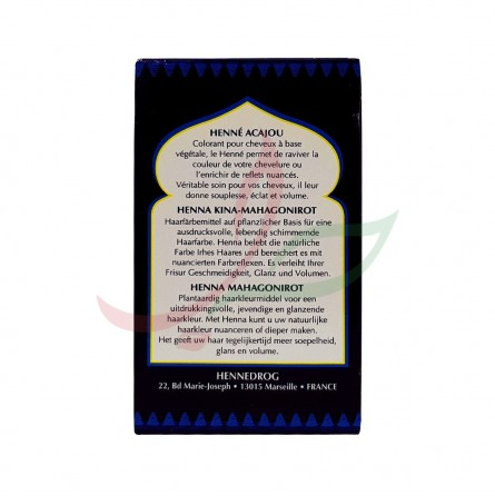 Henné elcahira (couleur acajou) 150g