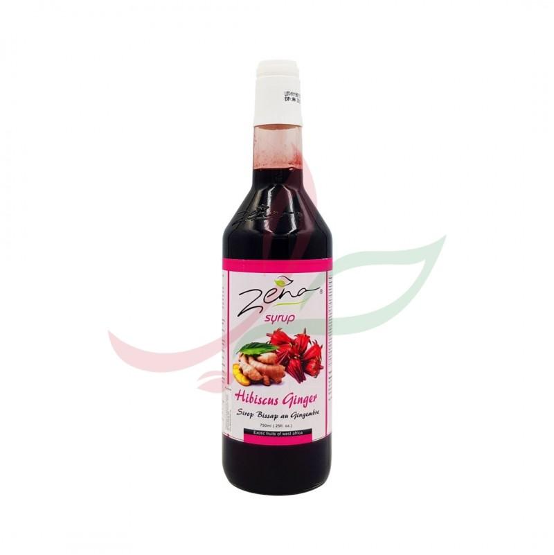 Sirop bissap hibiscus & gingembre Zena 750ml