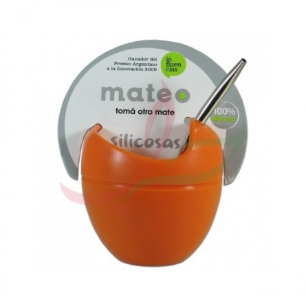 Set calebasse & bombilla Original Mateo - orange