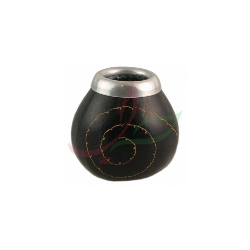 Traditional spiral calabash with eyelet - black
