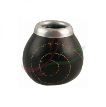 Calebasse traditionnelle spirale avec anneau - noir
