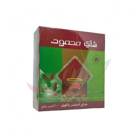 Thé vert à la cardamome (en sachets) Mahmood x100