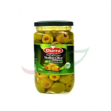 Olives vertes farcies au poivron Durra 720g