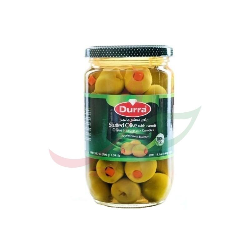 Olives vertes farcies à la carotte Durra 720g