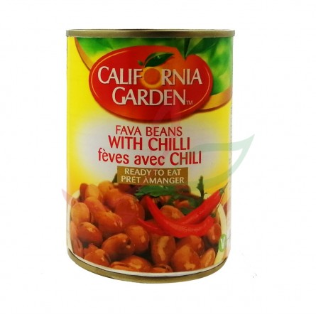 Foul medammas (fèves cuites) au chili California 400g