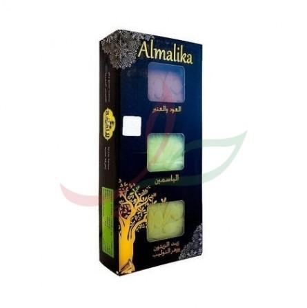 Assortiment savon d'Alep ambre & jasmin & olive Malika x3