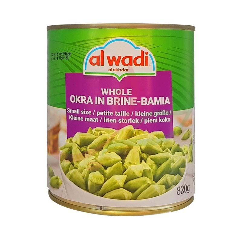 Whole okra small size Alwadi 820g