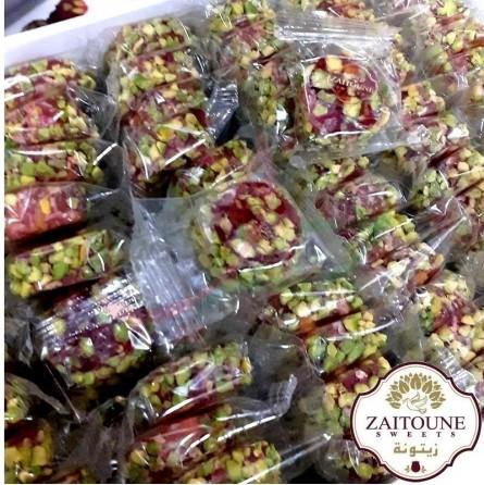 Round Loukoum (raha) with pistachios Zaitoune 250g