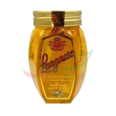 Miel d'acacia cire naturelle Langnese 500g
