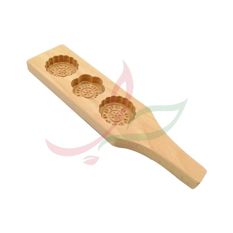 Wooden maamoul (triple) mould