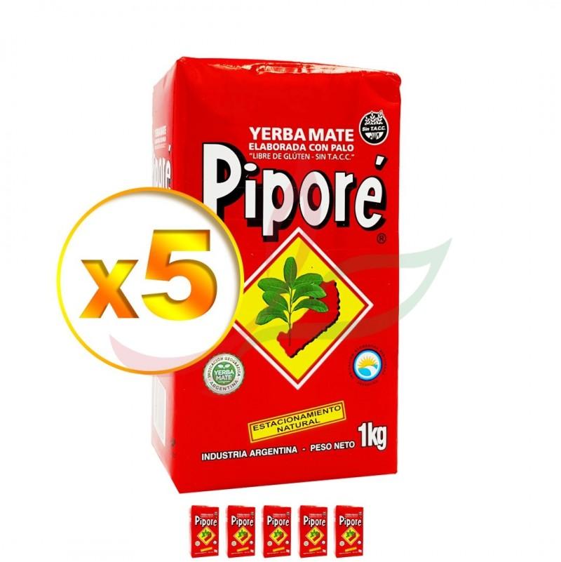 Yerba Maté (lot de 5) Piporé 1kg