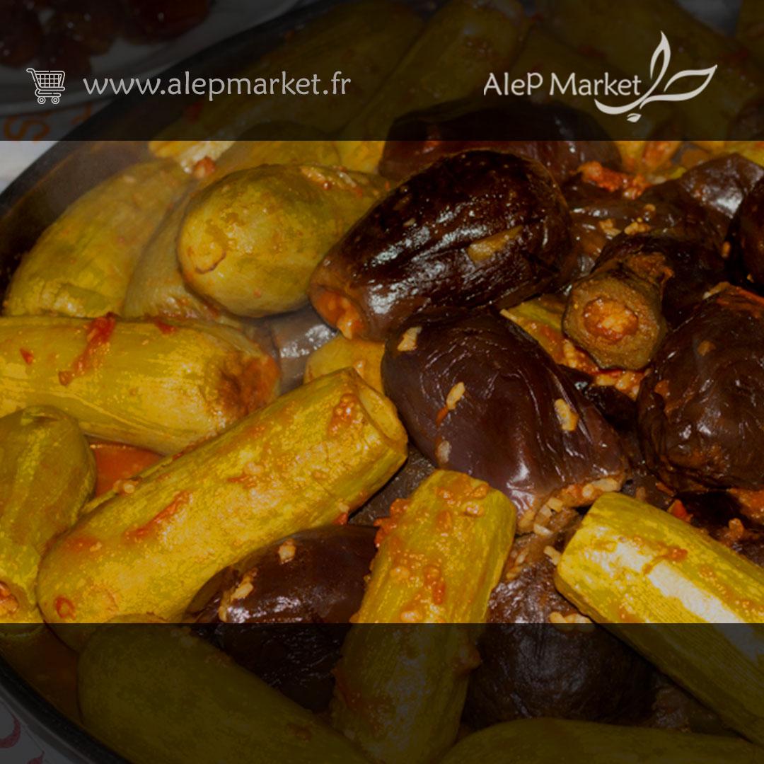 courgettes et aubergines farcies